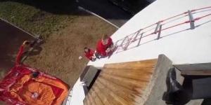 Embedded thumbnail for Лестница навесная спасательная пожарная Самоспас